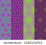 set of geometric modern... | Shutterstock .eps vector #1260116512