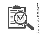 audit and test flat icon set... | Shutterstock .eps vector #1260118678