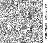 hippie hand drawn doodles... | Shutterstock .eps vector #1260120145