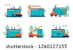 set of website under... | Shutterstock .eps vector #1260127255
