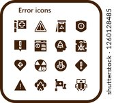 vector icons pack of 16 filled... | Shutterstock .eps vector #1260128485