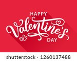 happy valentines day greeting...   Shutterstock .eps vector #1260137488