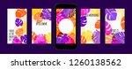 stories template design. tropic ... | Shutterstock .eps vector #1260138562