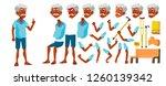 indian old man vector. senior... | Shutterstock .eps vector #1260139342
