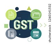 government tax   gst filing and ... | Shutterstock .eps vector #1260141532