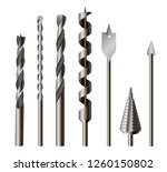metallic drill bits  equipment... | Shutterstock .eps vector #1260150802