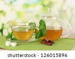 cup of tea with mint lime and