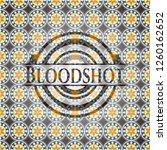bloodshot arabesque badge.... | Shutterstock .eps vector #1260162652