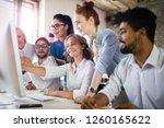 startup diversity teamwork... | Shutterstock . vector #1260165622
