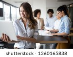 successful business group of... | Shutterstock . vector #1260165838
