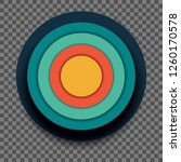 round colorful banner vector... | Shutterstock .eps vector #1260170578