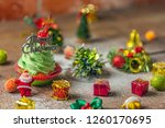 closeup for homemade green... | Shutterstock . vector #1260170695