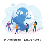 outsourcing concept. idea of... | Shutterstock .eps vector #1260171958