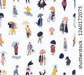 seamless pattern with people... | Shutterstock .eps vector #1260172075
