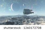3d illustration of  alien world ... | Shutterstock . vector #1260172708