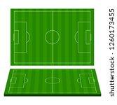 football field. green grass.... | Shutterstock .eps vector #1260173455