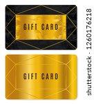 gold gift card design. discount ...   Shutterstock .eps vector #1260176218