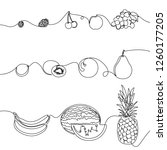 continuous one line set of... | Shutterstock .eps vector #1260177205