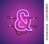 realistic neon character with... | Shutterstock .eps vector #1260180805