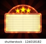 brightly glowing retro cinema... | Shutterstock .eps vector #126018182