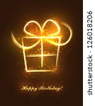 abstract birthday present made... | Shutterstock .eps vector #126018206