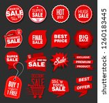 modern sale banners and labels... | Shutterstock .eps vector #1260183445