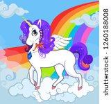 multicolored vector cartoon... | Shutterstock .eps vector #1260188008