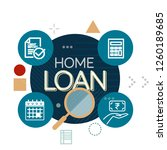 home loan process abstract... | Shutterstock .eps vector #1260189685