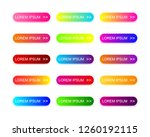 web buttons flat design with... | Shutterstock .eps vector #1260192115