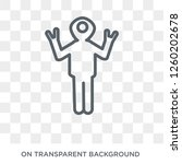 fantastic human icon. trendy... | Shutterstock .eps vector #1260202678