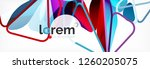 vector colorful geometric... | Shutterstock .eps vector #1260205075