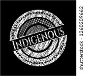 indigenous chalkboard emblem on ... | Shutterstock .eps vector #1260209662