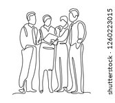 business team continuous line...   Shutterstock .eps vector #1260223015
