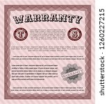 red warranty template. easy to... | Shutterstock .eps vector #1260227215