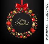 christmas  feliz navidad ... | Shutterstock .eps vector #1260227422