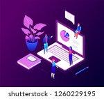 data analysis   modern colorful ... | Shutterstock .eps vector #1260229195