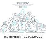 creative group   modern line... | Shutterstock .eps vector #1260229222
