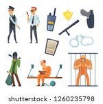 criminal characters and... | Shutterstock . vector #1260235798