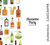 background with alcoholic... | Shutterstock . vector #1260236998