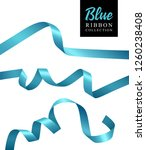vector blue ribbon banners... | Shutterstock .eps vector #1260238408
