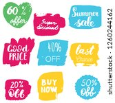 set of sale labels. hand drawn... | Shutterstock .eps vector #1260244162