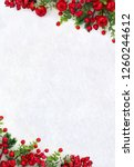 christmas decoration. frame of...   Shutterstock . vector #1260244612