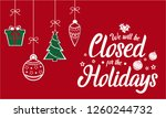 christmas  new year  we will be ...   Shutterstock .eps vector #1260244732