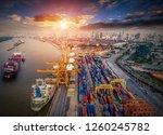 logistics and transportation of ...   Shutterstock . vector #1260245782