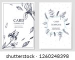 invitation or greeting card... | Shutterstock .eps vector #1260248398