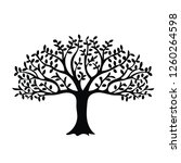 tree silhouette isolated | Shutterstock .eps vector #1260264598