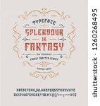 font splendour in fantasy. hand ... | Shutterstock .eps vector #1260268495