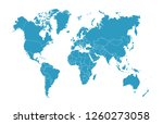 color world map vector | Shutterstock .eps vector #1260273058