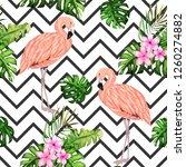 exotic summer print. seamless... | Shutterstock .eps vector #1260274882
