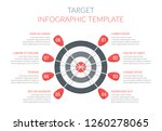 target with eight arrows with... | Shutterstock .eps vector #1260278065